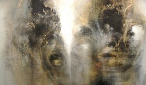 Light behind voices, 123 x 133 cm, Oil on canvas, 2013. Fernando Velazquez