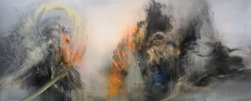 Distant Light - 50 x 120 cm, Oil on canvas, 2017