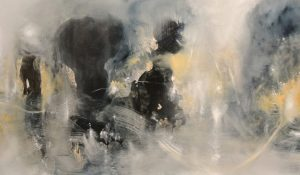 Mist, Light and Stones: 50 x 120cm, Oil on canvas