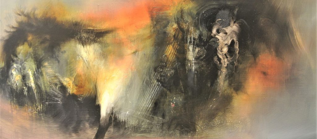 Torch-50-x-100-cm-Oil-on-canvas